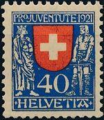 Switzerland 1921 PRO JUVENTUTE - Coat of Arms c