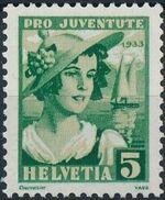 Switzerland 1933 PRO JUVENTUTE - Fr. Gregorie Girard a