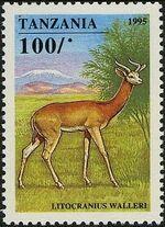 Tanzania 1995 African Hoofed-animals b
