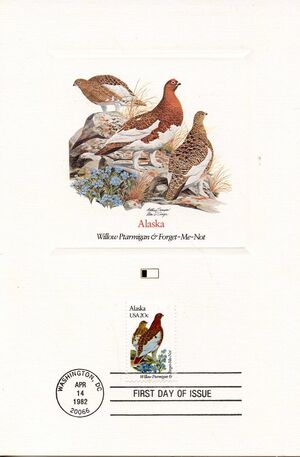 United States of America 1982 State birds and flowers FOLa2