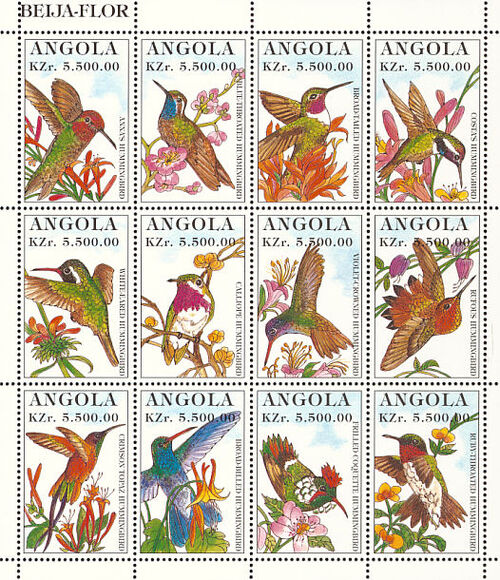 Angola 1996 Hummingbirds Sa
