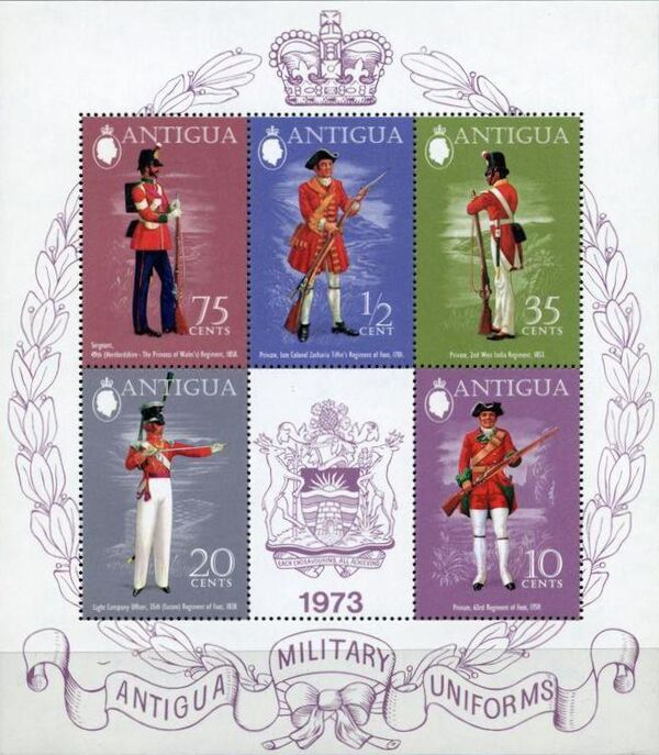 Antigua 1973 Military Uniforms g