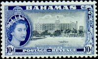 Bahamas 1954 Queen Elisabeth II and Landscapes Issue j
