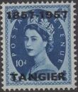 British Offices in Tangier 1957 Centenary Overprint (1857-1957) m