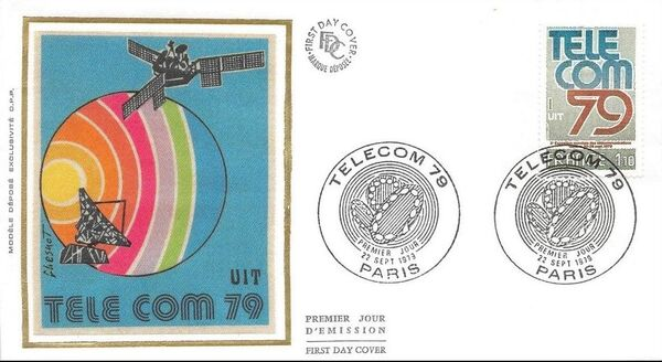 France 1979 3rd World Telecommunications Exhibition FDCa