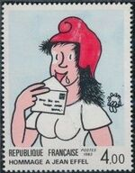 France 1983 75th Anniversary of the Birth of Jean Effel a