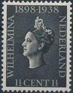 Netherlands 1938 40th Anniversary of the Reign of Queen Wilhelmina a