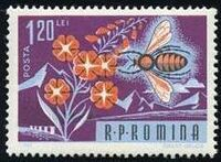 Romania 1963 Bees & Silk Worms g