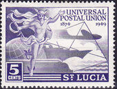 St Lucia 1949 75th Anniversary of Universal Postal Union UPU a
