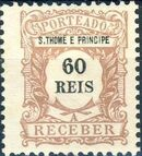 St Thomas and Prince 1904 Postage Due Stamps (S.THOMÉ) f