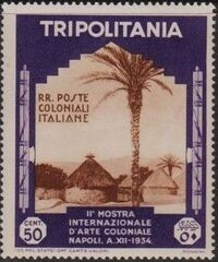 Tripolitania 1934 2nd Colonial Arts Exhibition in Naples d