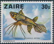 Zaire 1978 Fishes a