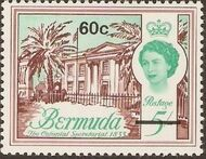 Bermuda 1970 Definitive Issue of 1962 Surcharged o