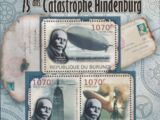 Burundi 2012 75th Anniversary of Hindenburg Disaster