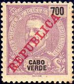 Cape Verde 1911 D. Carlos I Overprinted o