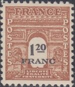 France 1945 Arc of the Triomphe - Allied Military Government f