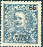 Lourenço Marques 1903 D. Carlos I New Values and Colors d