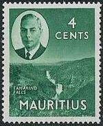 Mauritius 1950 Definitives d