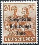 Russian Zone 1948 Overprint - Sowjetische Besatzungs Zone i