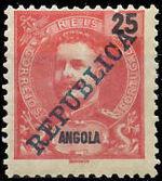 Angola 1911 D. Carlos I Overprinted f