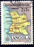 Angola 1955 Map of Angola e