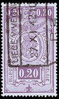 Belgium 1941 Railway Stamps (Numeral in Rectangle IV) b