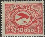 Danzig 1923 Air Post Stamps a