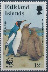 Falkland Islands 1991 WWF - King Penguin c