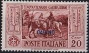 Italy (Aegean Islands)-Calino 1932 50th Anniversary of the Death of Giuseppe Garibaldi b