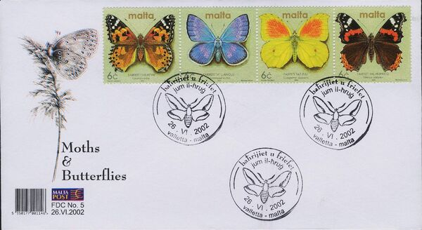 Malta 2002 Butterflies and Moths ab