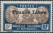 "New Caledonia 1941 Definitives of 1928 Overprinted in black ""France Libre"" zg"