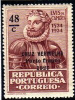 Portugal 1927 Red Cross - 400th Birth Anniversary of Camões b
