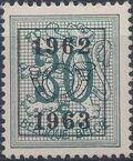 Belgium 1962 Heraldic Lion with Precancellations f