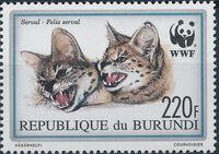 Burundi 1992 WWF Leptailurus serval d