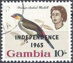 Gambia 1965 Birds Overprinted l
