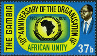 Gambia 1973 10th Anniversary of the OAU c