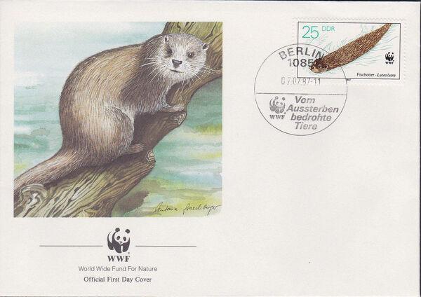 Germany DDR 1987 WWF - European Otter l