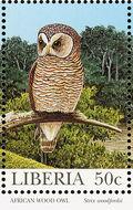 Liberia 1997 Native Owls c