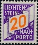 Liechtenstein 1928 Postage Due Stamps (Swiss Administration of the Post Office) d