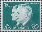 Monaco 1982 Prince Rainier and Prince Albert (Air Post Stamps) c