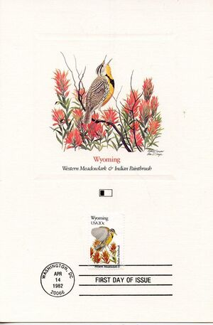 United States of America 1982 State birds and flowers FOLf5