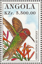 Angola 1996 Hummingbirds a