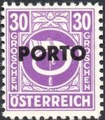Austria 1946 Occupation Stamps of the Allied Military Government Overprinted in Black j