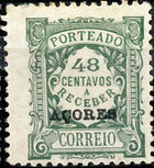 Azores 1924 Postage Due Stamps of Portugal Overprinted (3rd Group) h