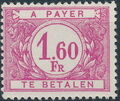 Belgium 1953 Postage Due Stamps (Digit on White Background) a