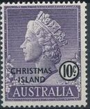 Christmas Island 1958 Queen Elizabeth II f