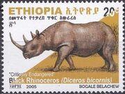 Ethiopia 2005 Black Rhinoceros d