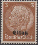 German Occupation-Alsace 1940 Stamps of Germany (1933-1936) Overprinted in Black a