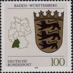 Germany, Federal Republic 1992 Coat of Arms of the Federal States of Germany (1st Group) a