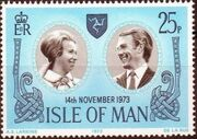Isle of Man 1973 Wedding of Princess Anne and Capt. Mark Phillips a